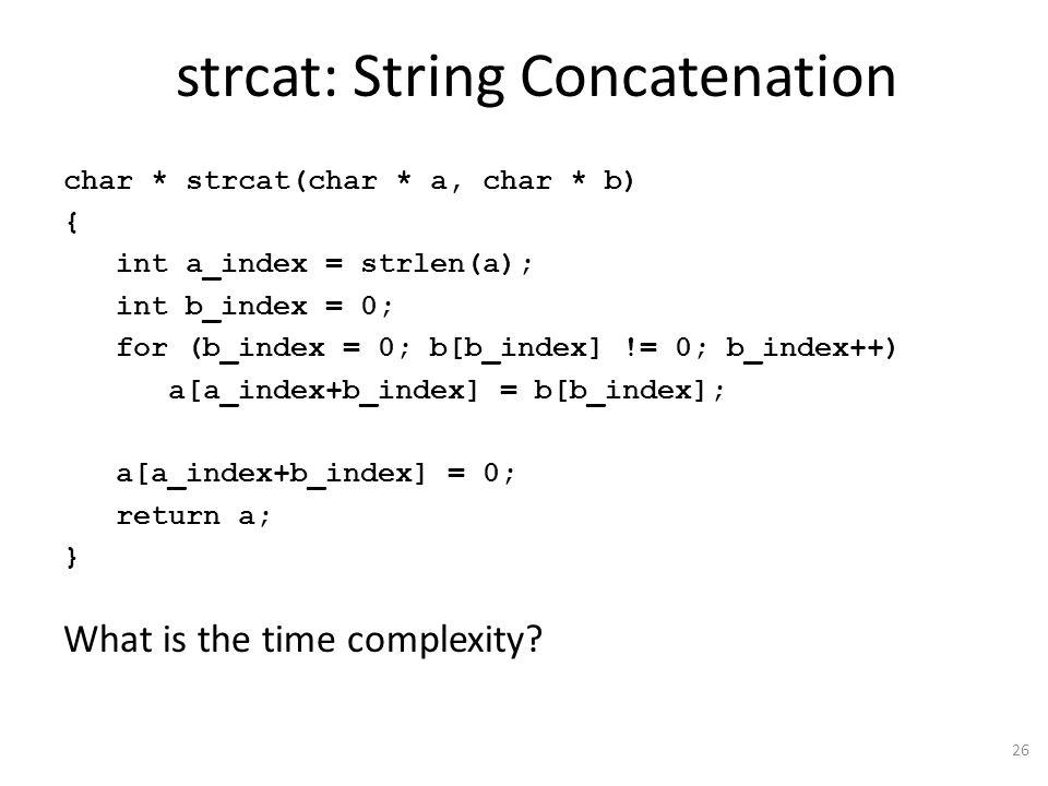 strcat: String Concatenation