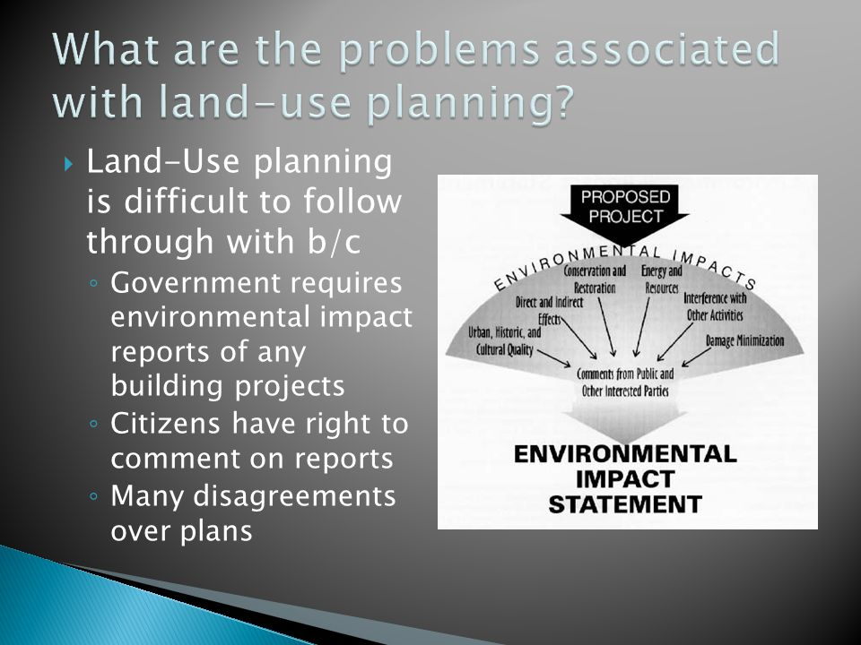 What are the problems associated with land-use planning