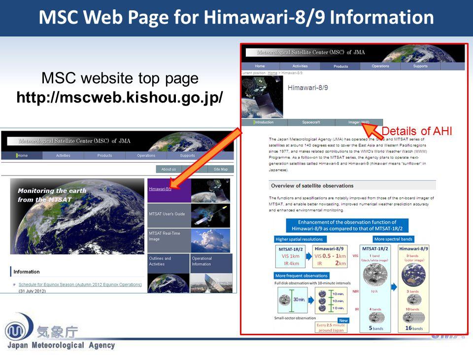 Himawari-8/9: Technical Information
