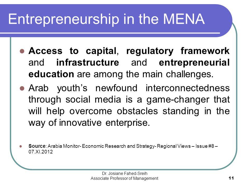 Entrepreneurship in the MENA