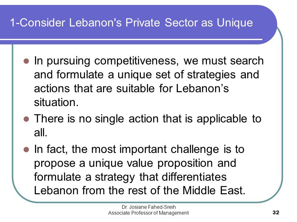 1-Consider Lebanon s Private Sector as Unique