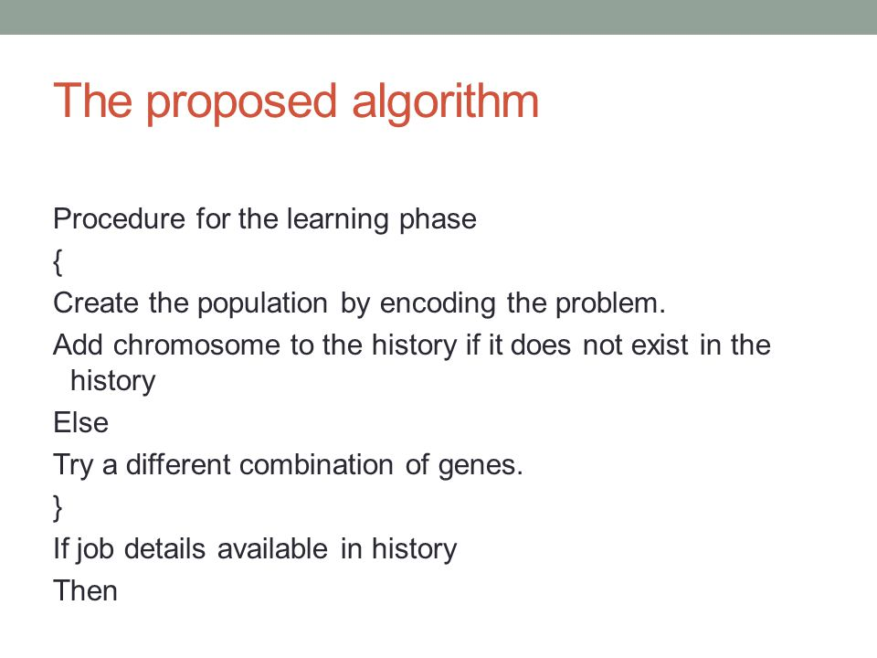 The proposed algorithm