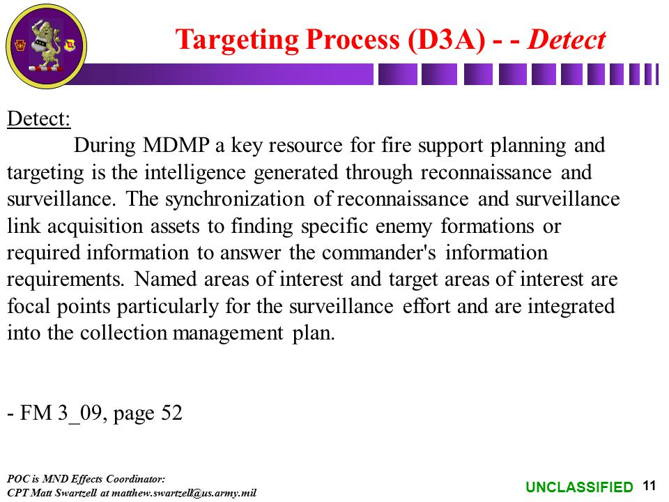 Targeting Process (D3A) - - Detect