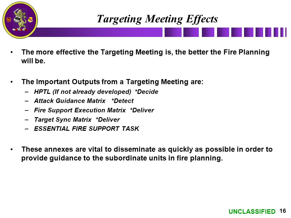 Targeting Meeting Effects