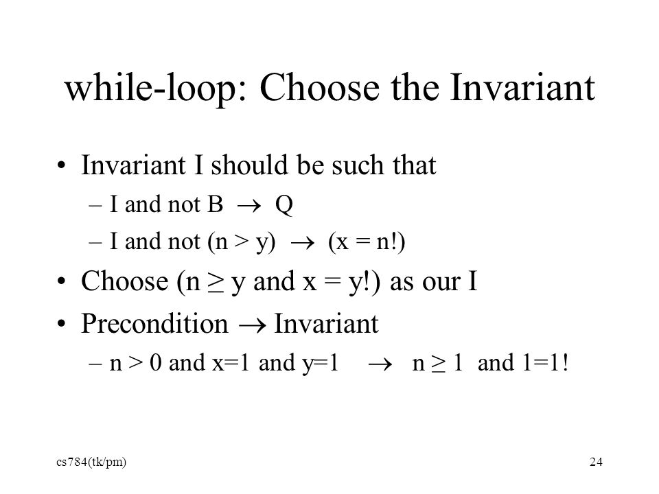 while-loop: Choose the Invariant