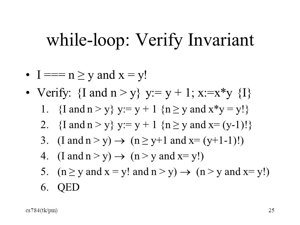 while-loop: Verify Invariant