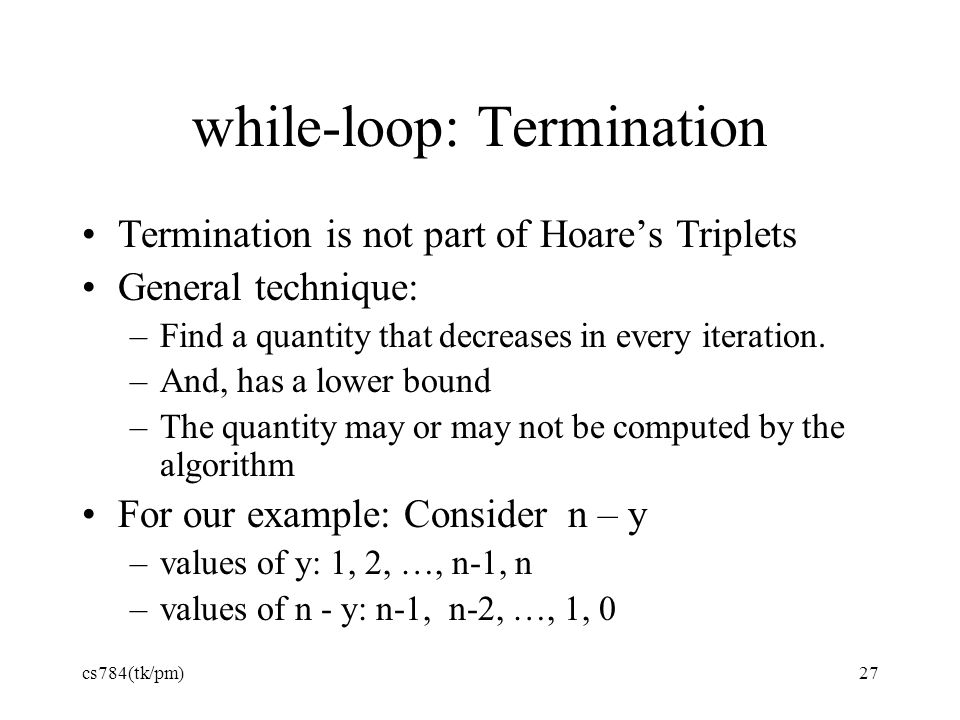 while-loop: Termination