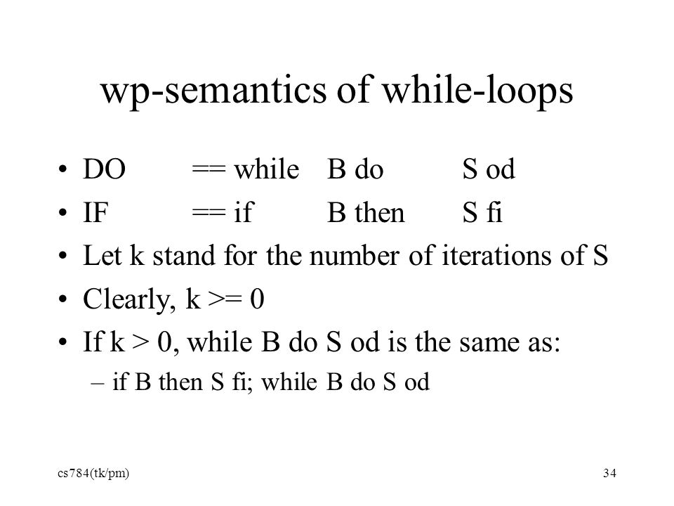 wp-semantics of while-loops
