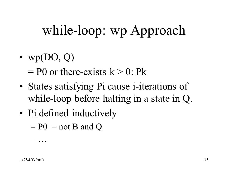 while-loop: wp Approach