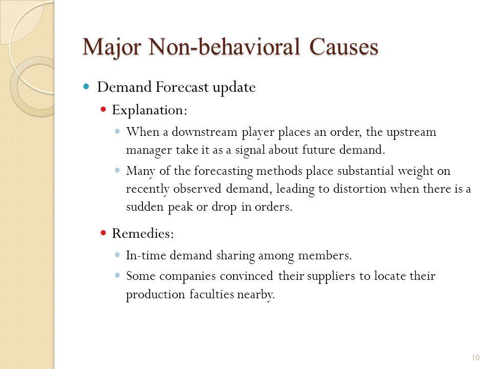 Major Non-behavioral Causes
