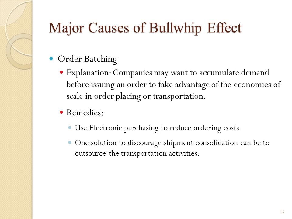 Major Causes of Bullwhip Effect