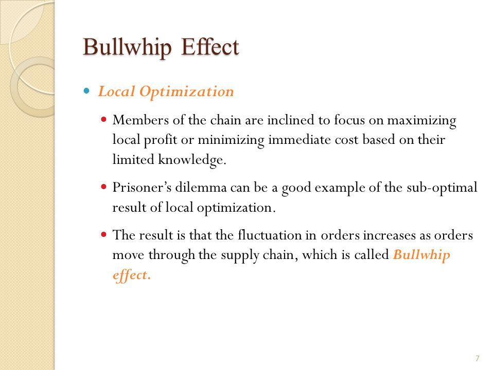 Bullwhip Effect Local Optimization