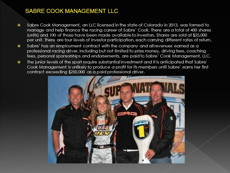 SABRE COOK MANAGEMENT LLC