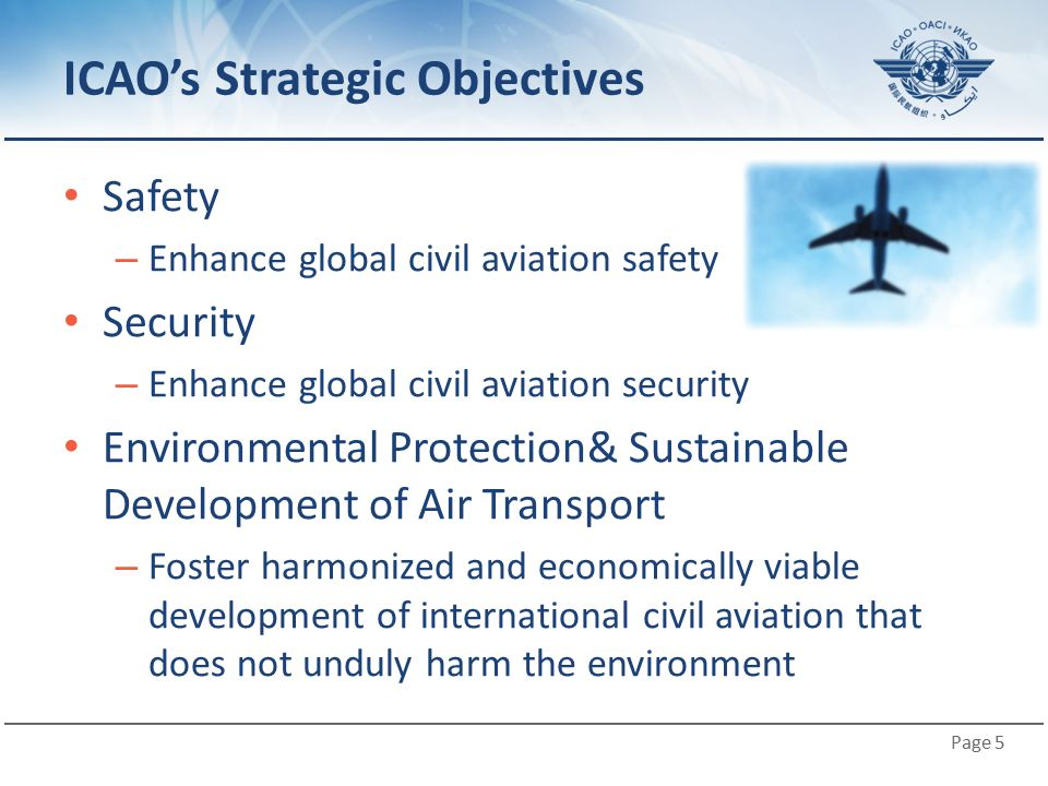 ICAO's Strategic Objectives