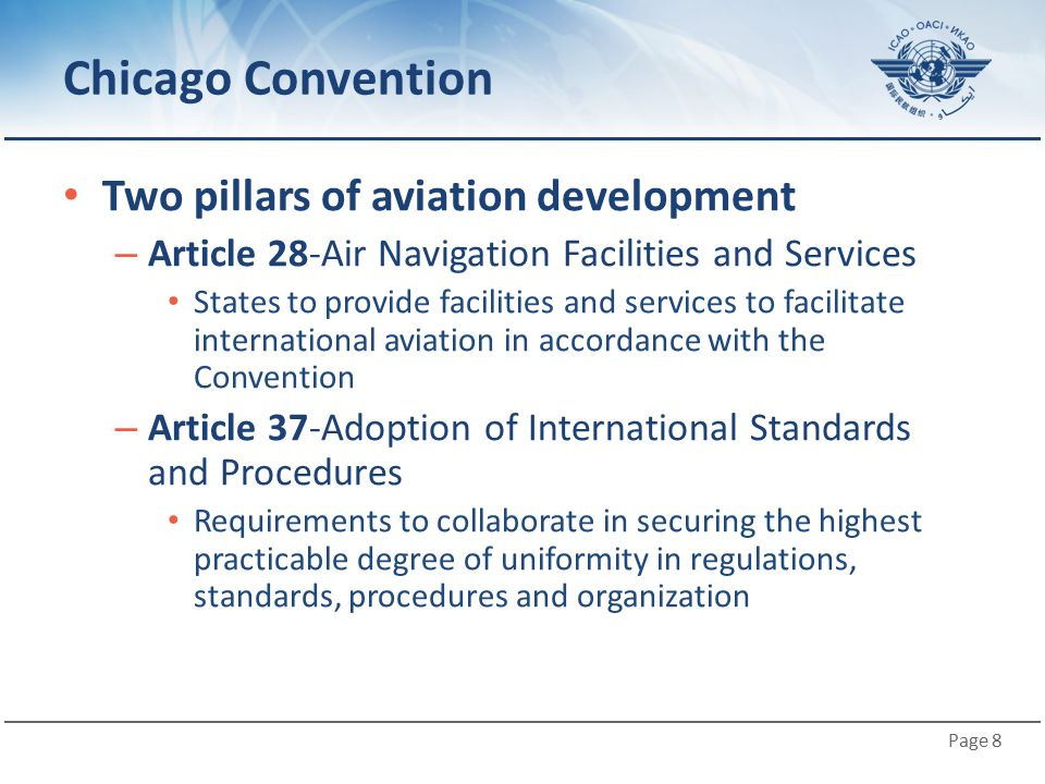 Chicago Convention Two pillars of aviation development