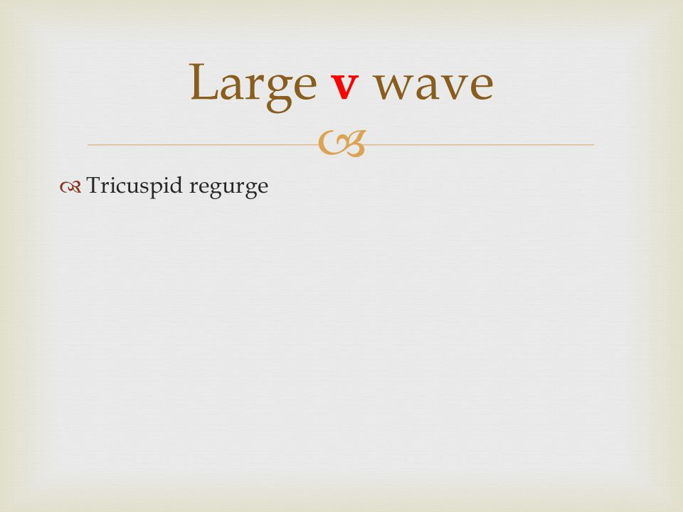 Large v wave Tricuspid regurge