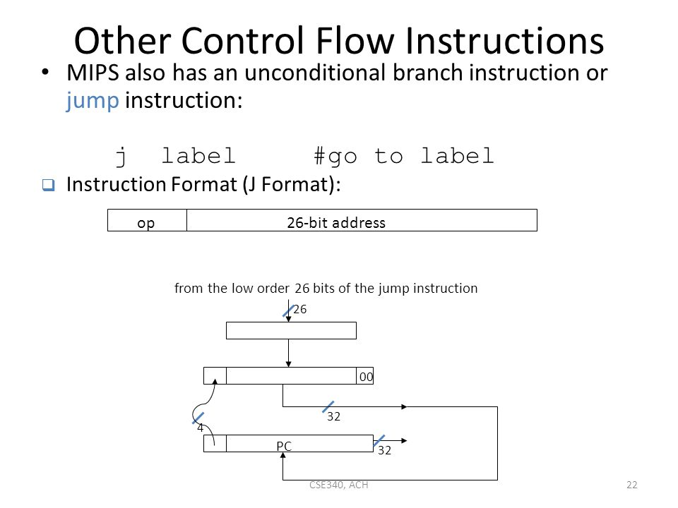 Other Control Flow Instructions