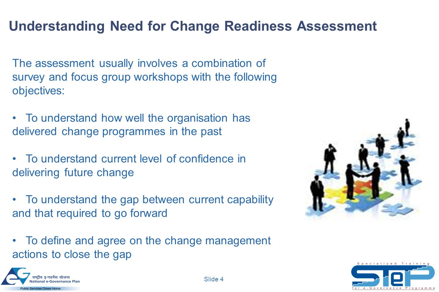 Understanding Need for Change Readiness Assessment