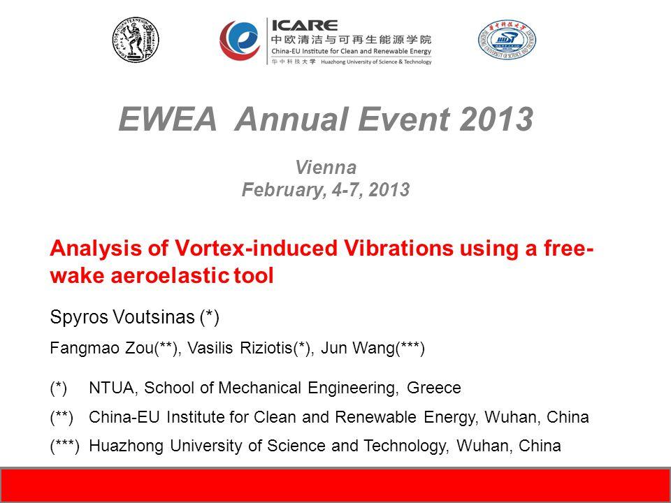 EWEA Annual Event 2013 Vienna. February, 4-7, 2013.