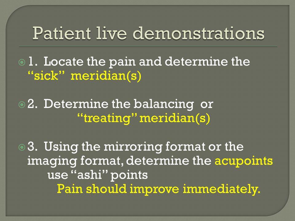 Patient live demonstrations