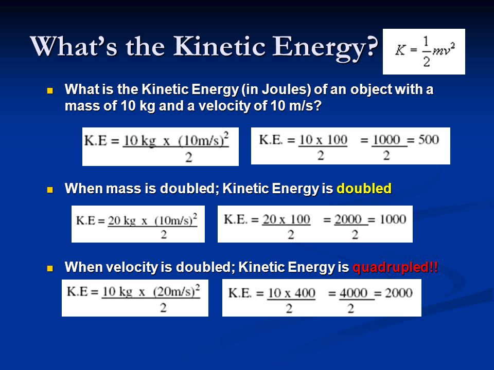 What's the Kinetic Energy