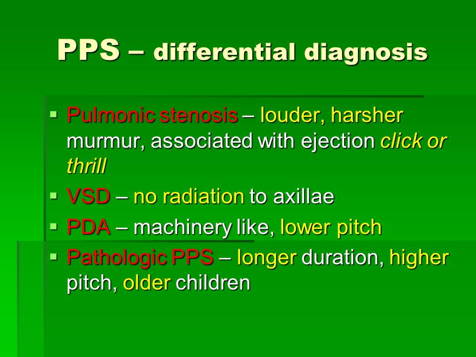 PPS – differential diagnosis