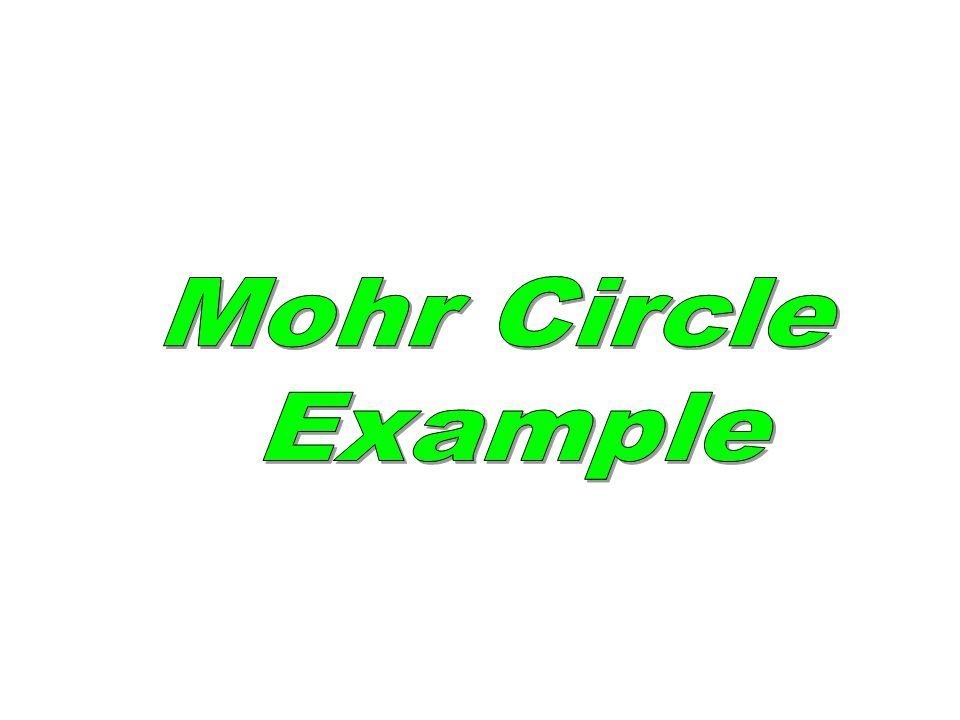 Mohr Circle Example