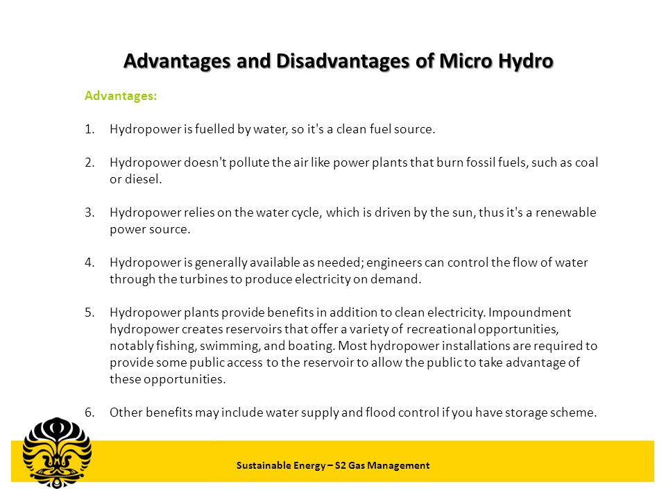 Advantages and Disadvantages of Micro Hydro