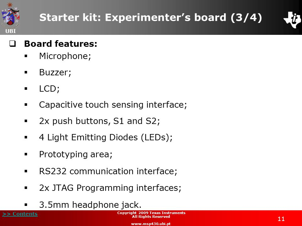 Starter kit: Experimenter's board (3/4)