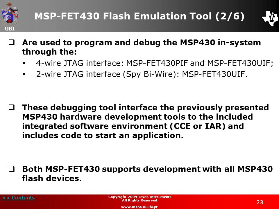 MSP-FET430 Flash Emulation Tool (2/6)