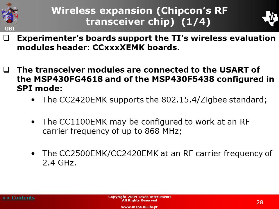 Wireless expansion (Chipcon's RF transceiver chip) (1/4)
