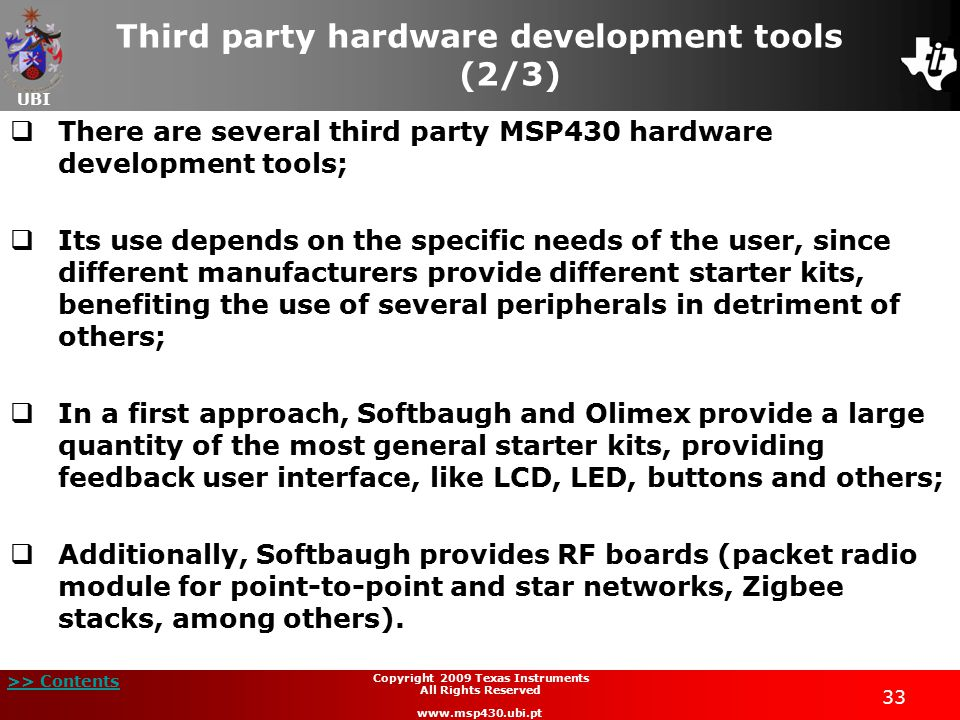 Third party hardware development tools (2/3)
