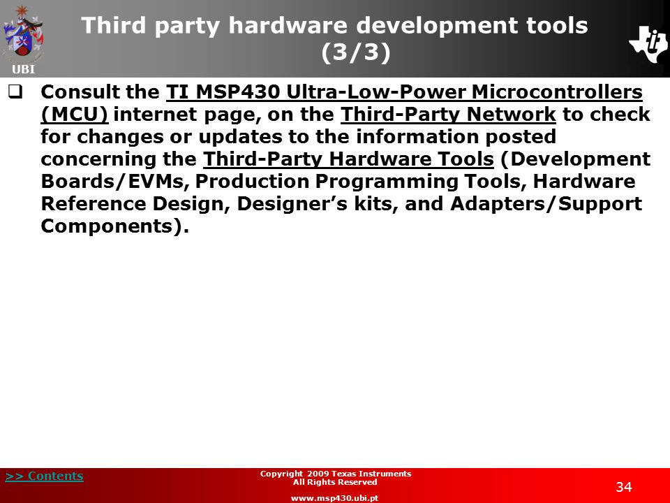 Third party hardware development tools (3/3)
