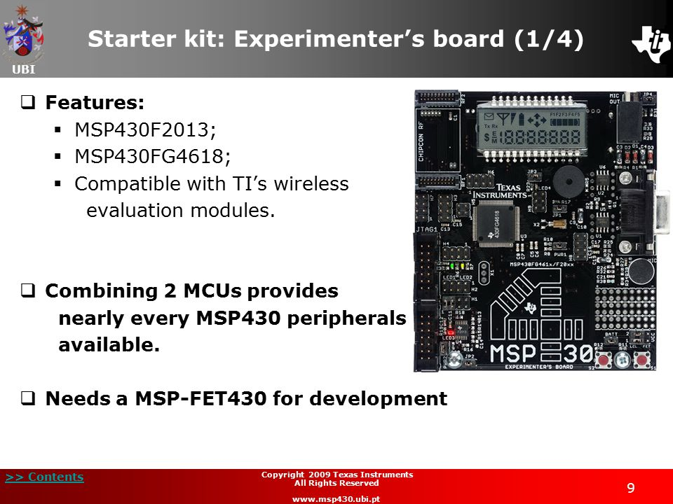 Starter kit: Experimenter's board (1/4)