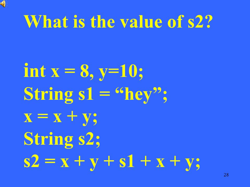 What is the value of s2.