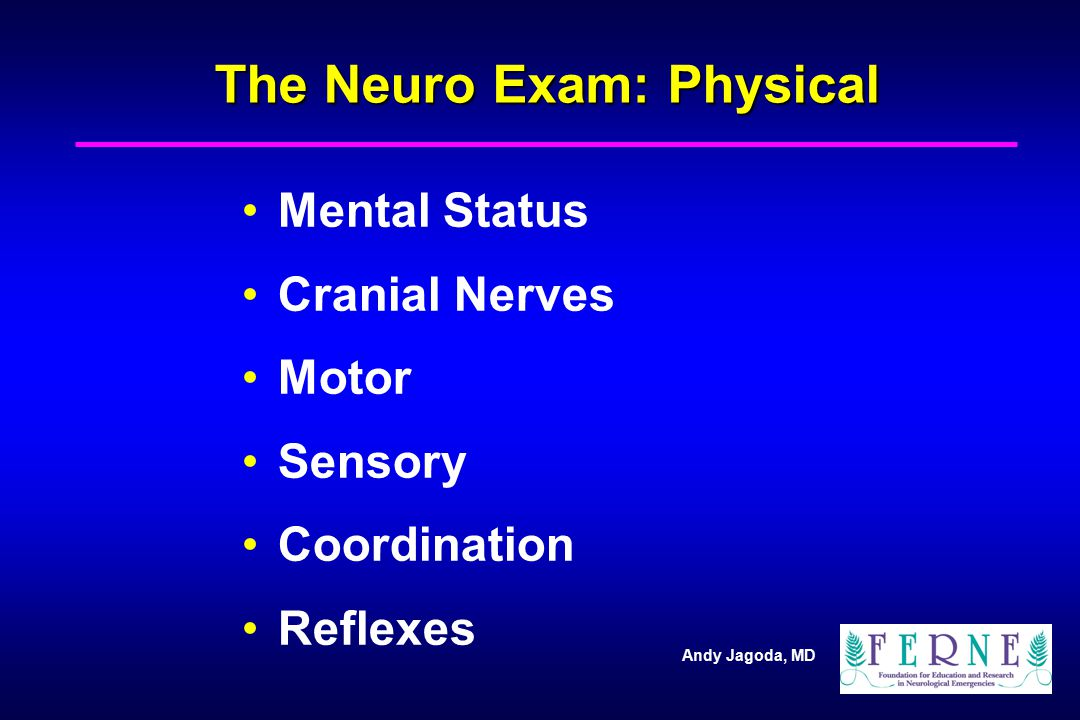 The Neuro Exam: Physical
