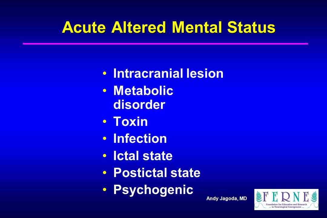 Acute Altered Mental Status