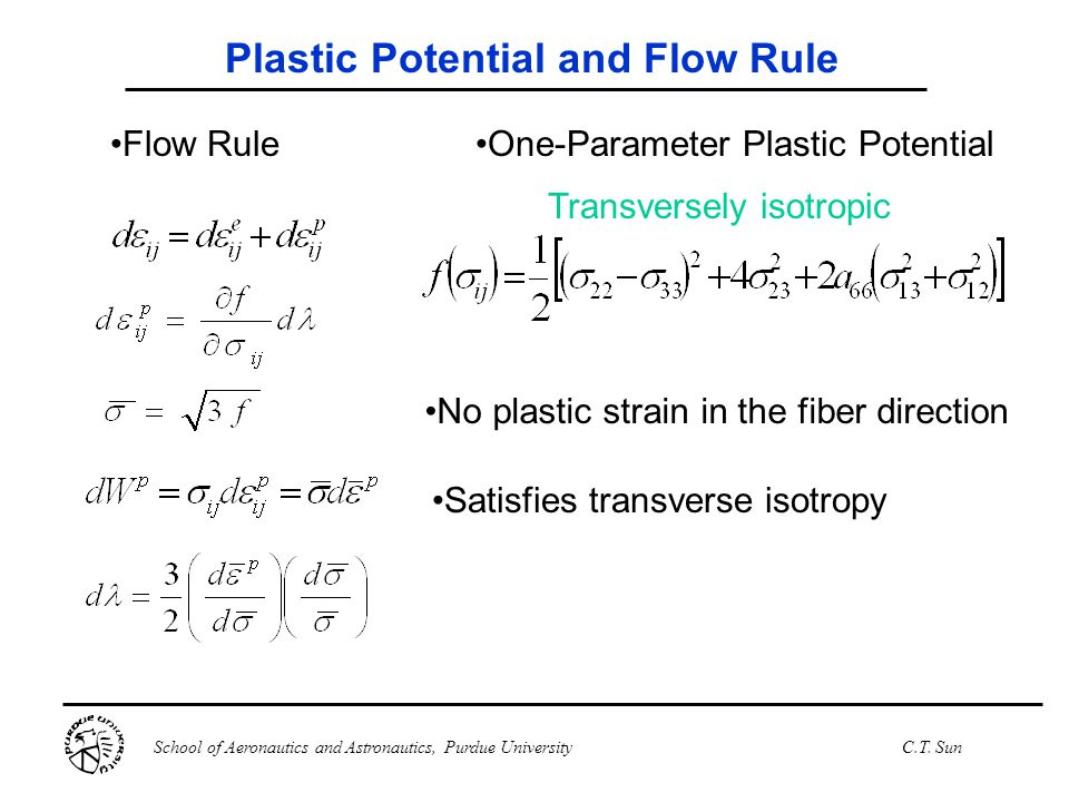 Plastic Potential and Flow Rule