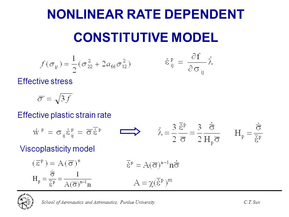 NONLINEAR RATE DEPENDENT