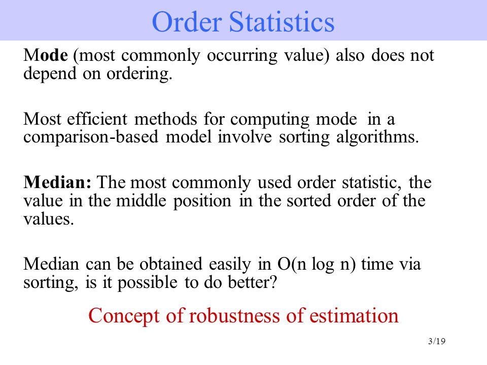 Concept of robustness of estimation