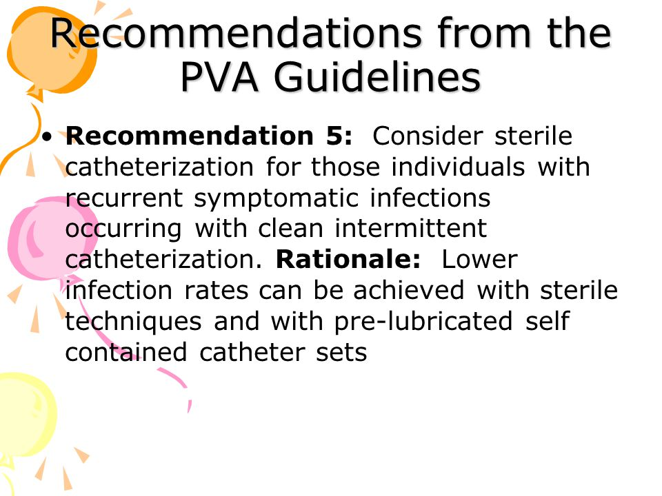 Recommendations from the PVA Guidelines