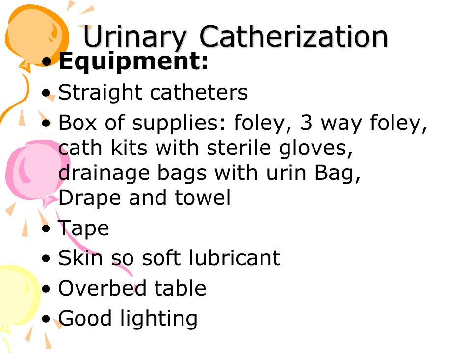 Urinary Catherization