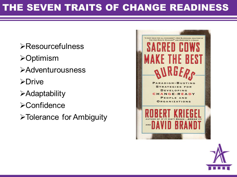 THE SEVEN TRAITS OF CHANGE READINESS