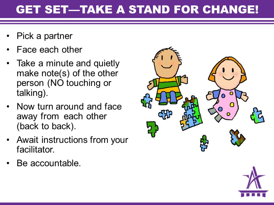 GET SET—TAKE A STAND FOR CHANGE!