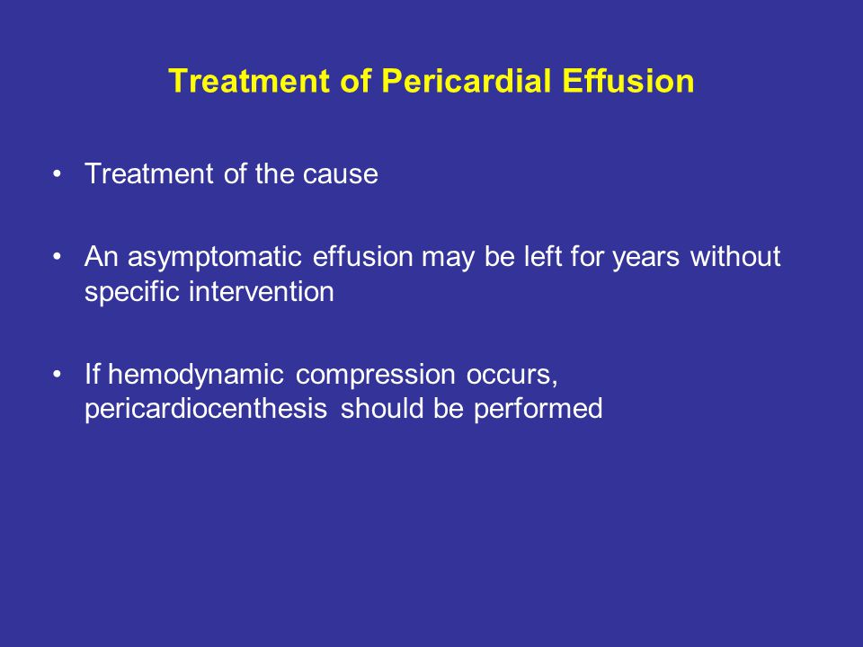 Treatment of Pericardial Effusion