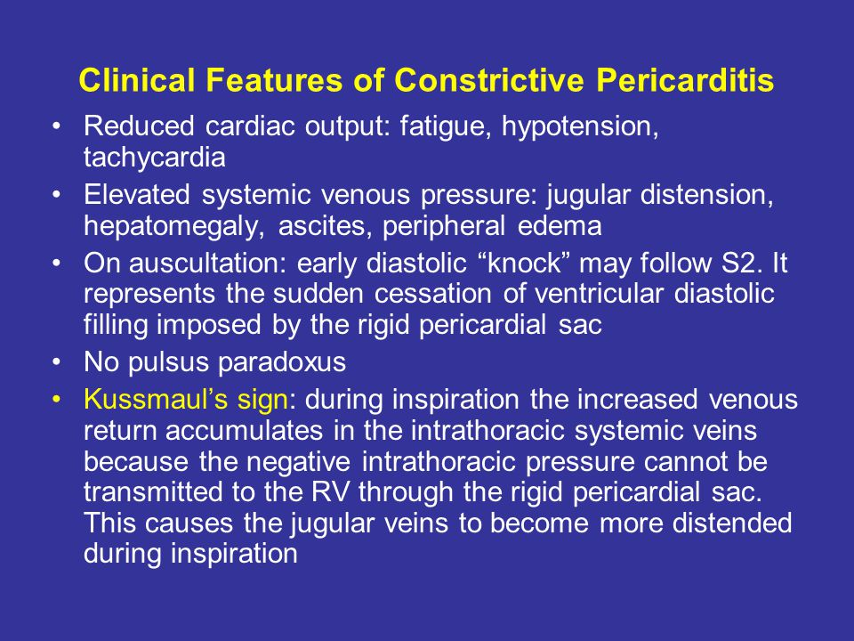 Clinical Features of Constrictive Pericarditis