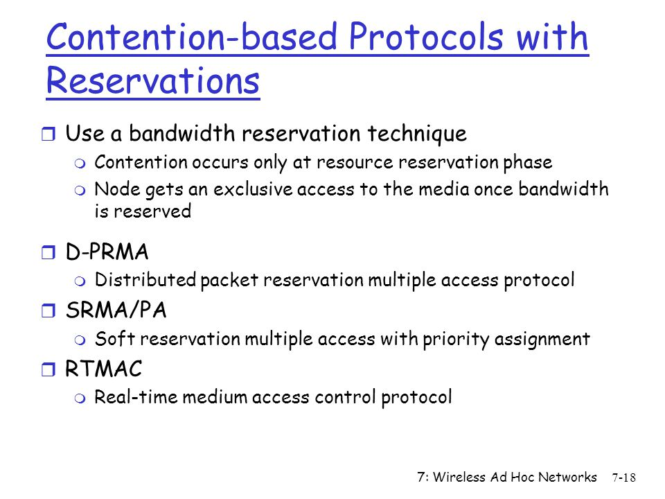 Contention-based Protocols with Reservations