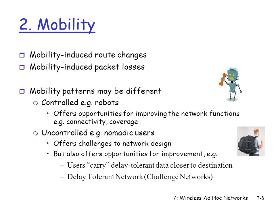 2. Mobility Mobility-induced route changes