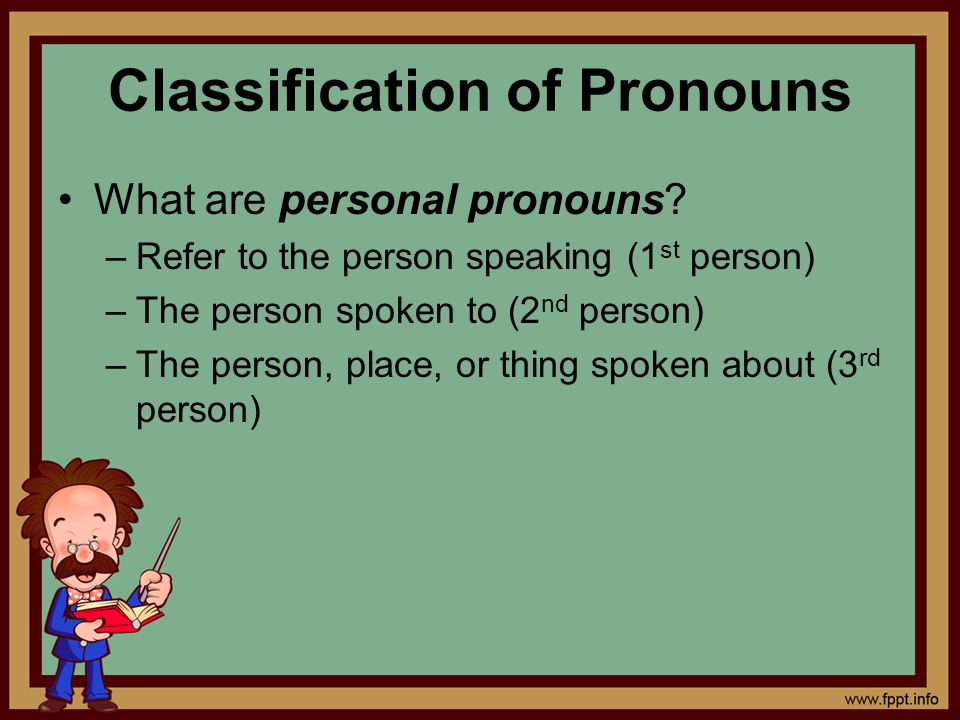 Classification of Pronouns