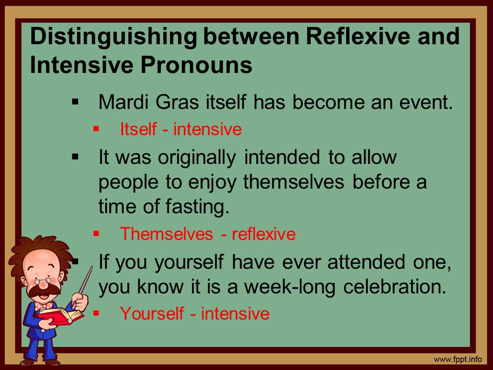Distinguishing between Reflexive and Intensive Pronouns